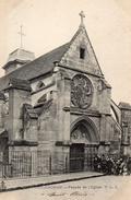 CPA ARCUEIL-CACHAN - FACADE DE L'EGLISE - Arcueil