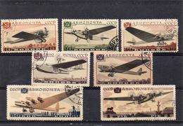 Russie 1937 -avions   YT PA 60/66 Obl