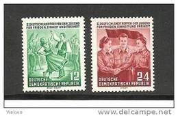 DDRMi.Nr.428-29**/ Jugendtreffen 1954 Berlin