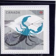 CANADA. 2012,  2456,  Zodiac Sign, Astrology, Scorpion MNH - Carnets