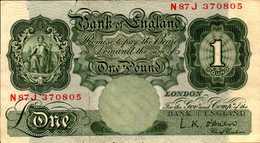 ANGLETERRE 1 LIVRE  De 1955-60nd  Pick 369c - 1952-… : Elizabeth II