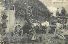 63 L'AGRICULTURE EN AUVERGNE Batteuse Mécanique   2 Scans - France