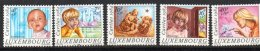 Luxembourg B347-51 Cats On 2 Fish Monkey Orchid MNH From 1984