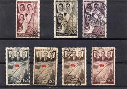 Russie 1938  -raids Transpolaire Et Journée De L'aéronautique   YT 632/34 Et PA 66A à 66 E Obl
