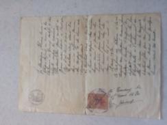 TIMBRES FISCAUX DE FRANCE DOCUMENT 1919 TIMBRE  DE DIMENSIONS N° 67  1 F BRUN - Fiscaux