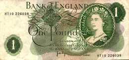ANGLETERRE 1 LIVRE  De 1970-77nd  Pick 374g - 1952-… : Elizabeth II