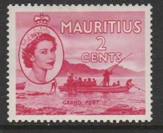 Mauritius 1953 Queen Elizabeth II - Local Motives 2c  Carmine - Maurice (...-1967)