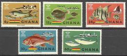 GHANA - 1966 Fishes Set Of 5 MNH **  SG 420-4  Sc 251-5