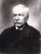PHOTO DE PRESSE ORIGINALE  PORTRAIT DU DIPLOMATE FRANCAIS FERDINAND DE LESSEPS ( 1805 - 1894 ) ACADEMICIEN - Célébrités