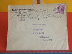 Marcophilie > Lettre > Flamme > Timbres Seuls Sur Lettres > 93 Seine Saint Denis > Étas Bourichon à Stains 2.9.1945 - Marcophilie (Lettres)