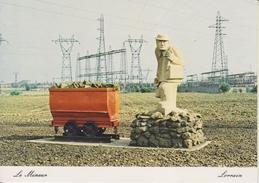 D54 - PIENNES - SCULPTURE DE MOLIN - 1980 - LE MINEUR LORRAIN - CPSM Grand Format - France