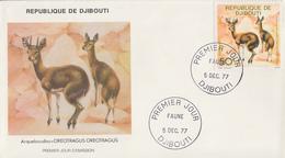 Enveloppe  FDC  1er  Jour   DJIBOUTI    Arqueboudou   1977 - Djibouti (1977-...)