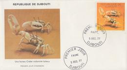 Enveloppe  FDC  1er  Jour   DJIBOUTI    Crabe   1977 - Djibouti (1977-...)