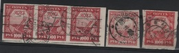 RUS 40 - RUSSIE 5 Val. Du N° 139 Obl. Dont 3 Se Tenant Variétés De Teintes - 1917-1923 Republic & Soviet Republic