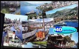 40 Cartoline Imbarcazioni (transatlantici - Barche A Vela -  Barconi Fluviali O A Remi) - Barche