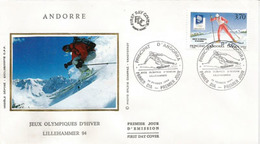 ANDORRA.Jeux Olympiques D'Hiver Lillehammer. FDC  1994 - Hiver 1994: Lillehammer