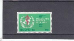 Suisse - Neufs - OMS - Année 1986 - YT 464
