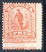 US Locals & Carriers 1854 - 66 New York  Hussey's Express Rosso MH - 1845-47 Emissions Provisionnelles