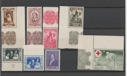Bel Mi.Nr. 497-04/ Rotes Kreuz 1939 **