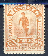 US Locals & Carriers 1854 - 66 New York  Hussey's Express Bruno- Rosso MH - 1845-47 Emissions Provisionnelles