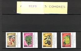 République Fédérale Des COMORES  4 Timbres Neufs (sans Trace Charnière) Signés Créatrice P. Lambert