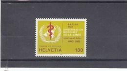 Suisse - Neufs - OMS - Année 1995 - YT 471