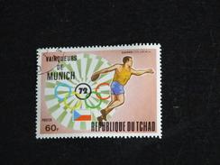 TCHAD YT 281 OBLITERE - JEUX OLYMPIQUES MUNICH - ATHLETISME DISQUE - Tchad (1960-...)