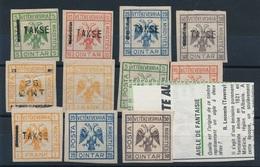 AX-143: Lot De Vignettes  De Complaisance De 1921 (aigle à 2 Têtes)