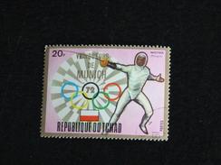 TCHAD YT 286 OBLITERE - JEUX OLYMPIQUES MUNICH - ESCRIME - Tchad (1960-...)