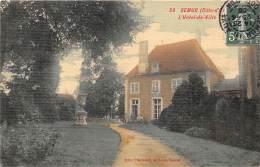 21 - COTE D'OR - SEMUR - Hôtel De Ville - Belle Carte Toilée Et Colorisée - Semur