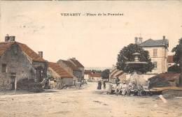 21 - COTE D'OR - VENAREY - Place De La Fontaine - Beau Cliché Colorisé - Venarey Les Laumes
