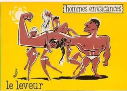 - Hommes En Vacances : Le Leveur  - Illustrateur Rosset - Ed Sudef, Sainte Maxime - - Illustratori & Fotografie