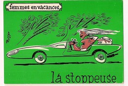 - Femmes En Vacances : La Stoppeuse - Illustrateur Rosset - Ed Sudef, Sainte Maxime - - Künstlerkarten