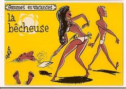 - Femmes En Vacances : La Bêcheuse - Illustrateur Rosset - Ed Sudef, Sainte Maxime - - Künstlerkarten