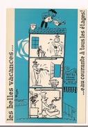 - Les Belles Vacances : Eau Courante à Tous Les étages - Illustrateur Rosset - Ed Sudef, Sainte Maxime - - Illustratori & Fotografie