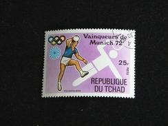 TCHAD YT 288A OBLITERE - JEUX OLYMPIQUES MUNICH - HANDBALL - Tchad (1960-...)