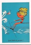 """Ski Nautiqe : """"quel Drôle De Poisson """" - Illustrateur Caroline Raoul - - Illustrators & Photographers"""