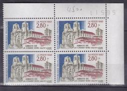 N° 2825 Série Touristique Abbaye De La Chaise-Dieu ( Haute Loire ):1 Bloc De 4 Timbres  Neuf Impeccable - Ungebraucht