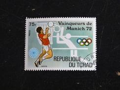 TCHAD YT 288D OBLITERE - JEUX OLYMPIQUES MUNICH - VOLLEY - Tchad (1960-...)