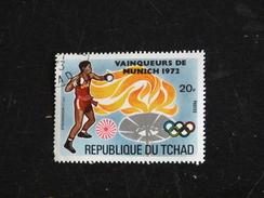 TCHAD YT 288E OBLITERE - JEUX OLYMPIQUES MUNICH - BOXE - Tchad (1960-...)