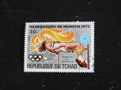 TCHAD YT 288F OBLITERE - JEUX OLYMPIQUES MUNICH - PENTATHLON - Tchad (1960-...)