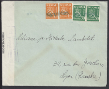 FINLANDE - 1932 - Enveloppe De Karunki Pour Lyon - FR - Avec Contrôle De Censure Finnoise - B/TB - - Finnland