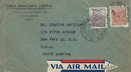Brazil -  Cover Sent To United States 1947   H-1004 - Brazil