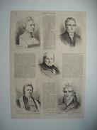 GRAVURE 1865. ARAGO. BIOT. GAY-LUSSAC. THENARD. CUVIER. - Prenten & Gravure