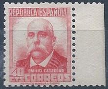 ES736-LA098TAN.España.Spain. CIFRA  Y PERSONAJES.Pablo Iglesias. 1936/38 (Ed 736**) Sin Charnela,. MAGNIFICO - 1931-Hoy: 2ª República - ... Juan Carlos I
