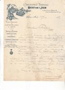 51 Chalons Sur Marne - Correspondance De 1896 Ets Horticulture Machet & Josem. Belle Illustration. Bon état. - France