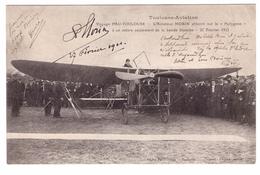 """Toulouse-Aviation - Voyage PAU-TOULOUSE - L'Aviateur MORIN Atterrit Sur Le """" Polygone """" - Toulouse"""