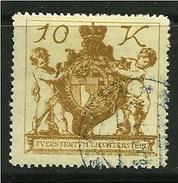 LIECHTENSTEIN 1920 - STEMMI - N. 39 Usato  - Cat. 5,00 € - Lotto 395