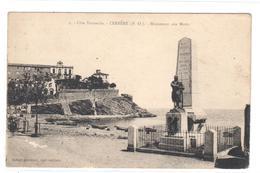 POSTAL .- CERBERE  -FRANCIA  -COSTA BERMEJO -MONUMENTO A LOS MUERTOS   ( CÔTE VERMEILLE-MONUMENT AUX MORTS ) - Cerbere