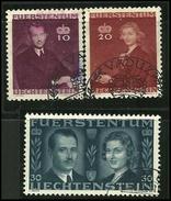 LIECHTENSTEIN 1943 - NOZZE - N.  186 / 88 Usati , Serie Compl. - Cat. 5,00 € - Lotto 323